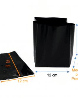 Bolsa Plástica para Almácigo y Plantas de 25×25 – 100 Unidades