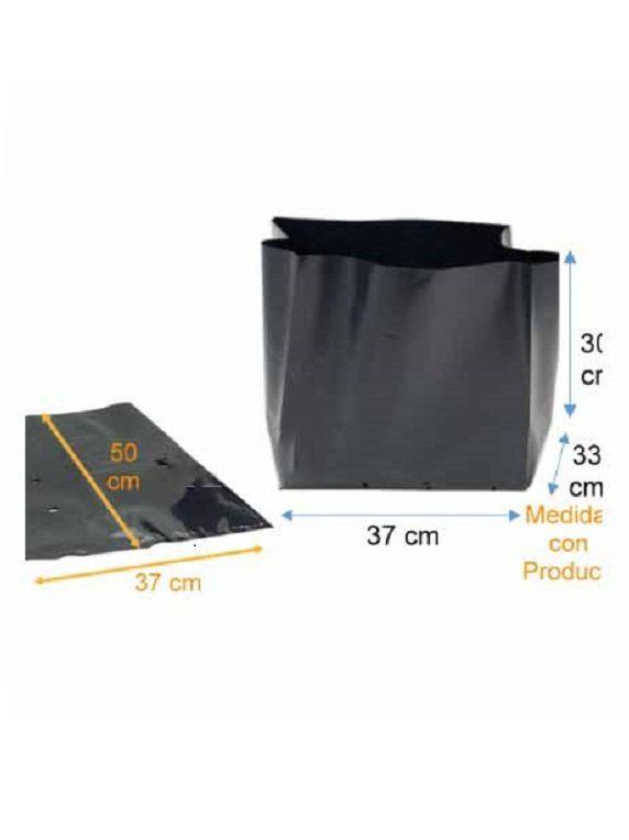 Bolsa Plástica para Almácigo y Plantas de 70x50 - 100 unidades
