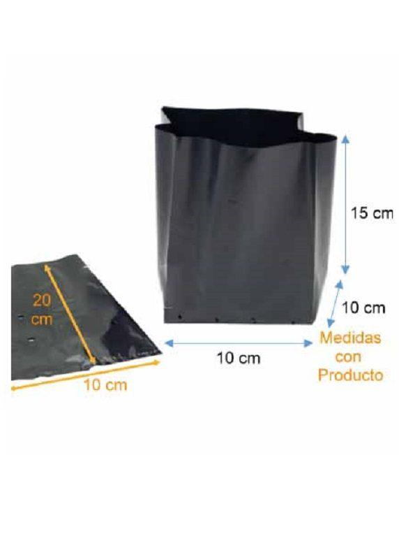 Bolsa Plástica para Almácigo y Plantas de 20x20 - 100 unidades