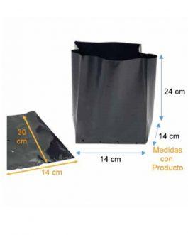 Bolsa Plástica para Almácigo y Plantas de 35x35 - 100 unidades