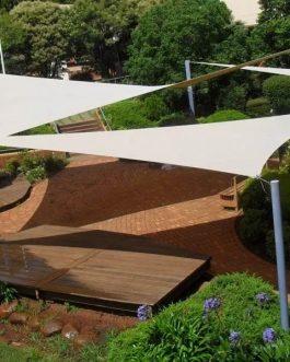 Malla Sombra Raschel Beige 3x3x3 Triangular
