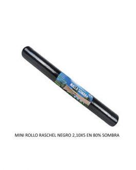 Malla Raschel Minirollo  2,10 X  5,0 Mts Negra 80%