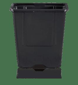 Macetero Cuadrado VQF-11x11x11.5 de 1 Litro Negro