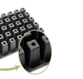 Bandeja Almaciguera de 50 Cavidades Negra Rígida 10 Unidades
