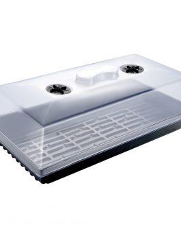Cubierta para Almaciguera Plástica Transparente con Ventilación