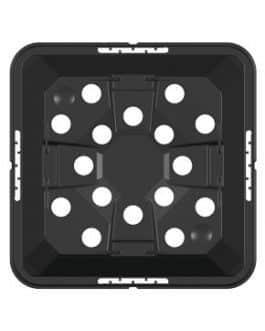 Macetero Inyectado Negro MQE-16X16X16 de 3 Litros