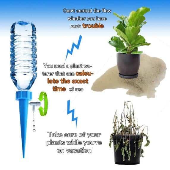 Sistema de Riego por Goteo el Hogar para Plantas y Flores