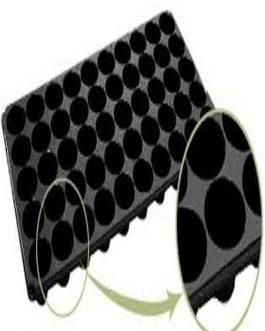 Bandeja Almaciguera de 32 Cavidades Redondas Negra Rígida 1 Unidad