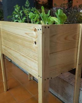 Kit de Mesa Rustica de Madera de Cultivo