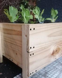 Kit de Macetero Rústico de Madera de Cultivo