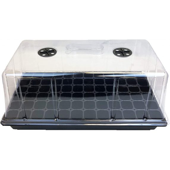 Cubierta Alta para Almaciguera Plástica Transparente con Ventilación