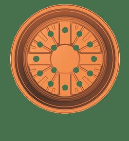 Macetero Tipo Plato VSA-23 22x10cm de 2.5 Litros Color Terracota