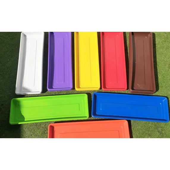 Plato Para Jardinera de Colores 43X15X3cm