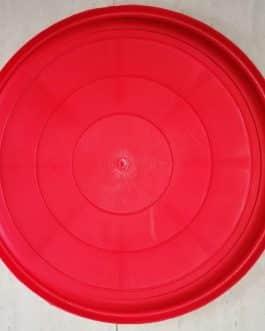 Plato Para Macetero Redondo N50 de Color Rojo