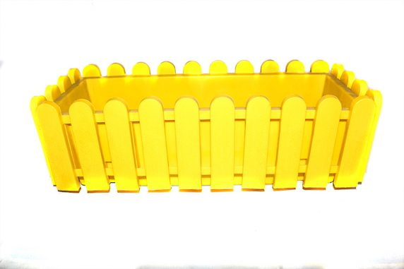 Jardinera de Reja Amarilla Huertos Alma