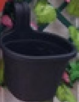 Jardinera Simple de Balcón Negra
