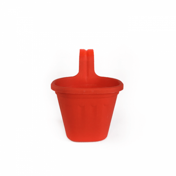 Jardinera Simple de Balcón Roja