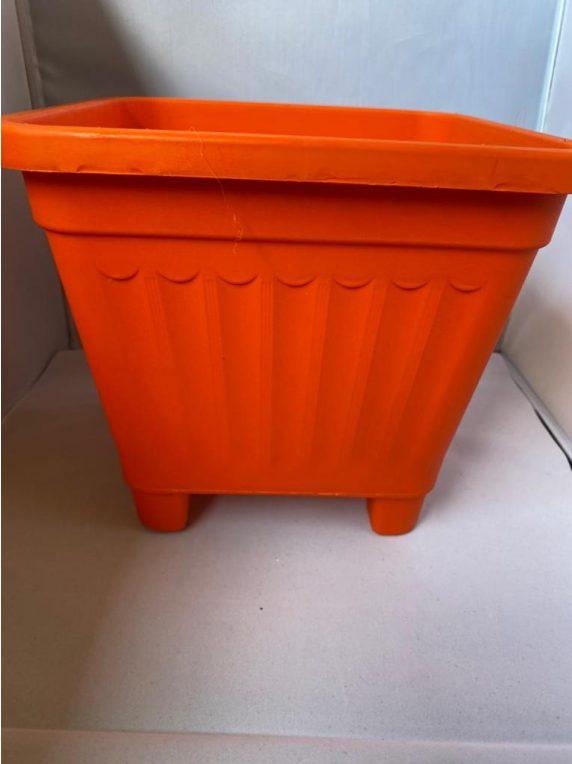 Macetero Cuadrado Naranjo 24.5 x 24.5 x 22 cm Huertos-Alma
