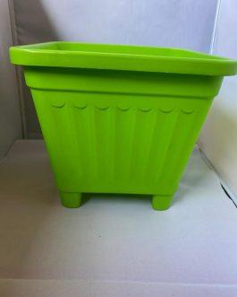 Macetero Cuadrado Verde 24.5 x 24.5 x 22 cm
