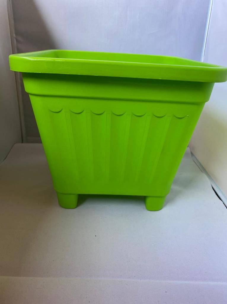 Macetero Cuadrado Verde 24.5 x 24.5 x 22 cm Huertos-Alma