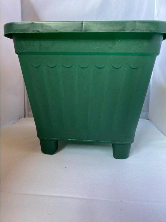 Macetero Cuadrado Verde Oscuro 24.5 x 24.5 x 22 cm Huertos-Alma