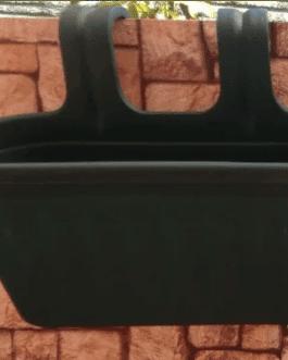 Jardinera de Balcón Verde Oscuro