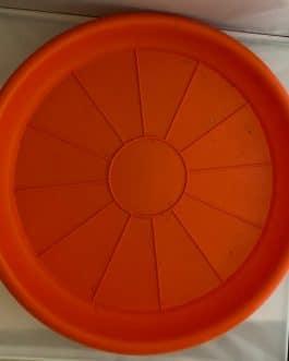 Plato Para Macetero Redondo P-50 de Color Naranja