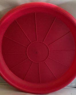 Plato Para Macetero Redondo P-50 de Color Rojo
