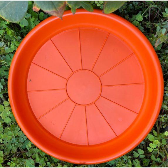 Plato Para Macetero Redondo de Color Naranja