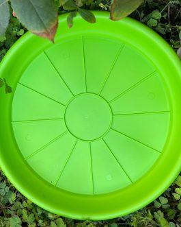 Plato Para Macetero Redondo P-23 de Color Verde