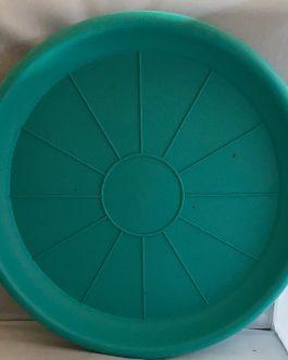 Plato Para Macetero Redondo P-50 de Color Verde Oscuro