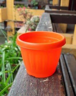 Macetero M-8 redondo color Naranjo