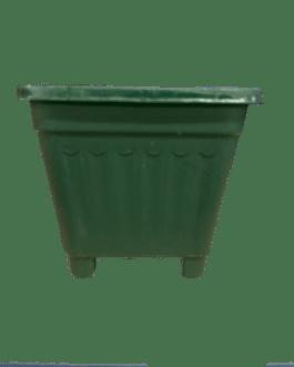 Macetero Cuadrado Verde Oscuro 8 Cm