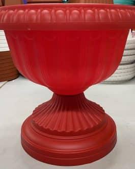 Macetero Tipo Copa Color Rojo