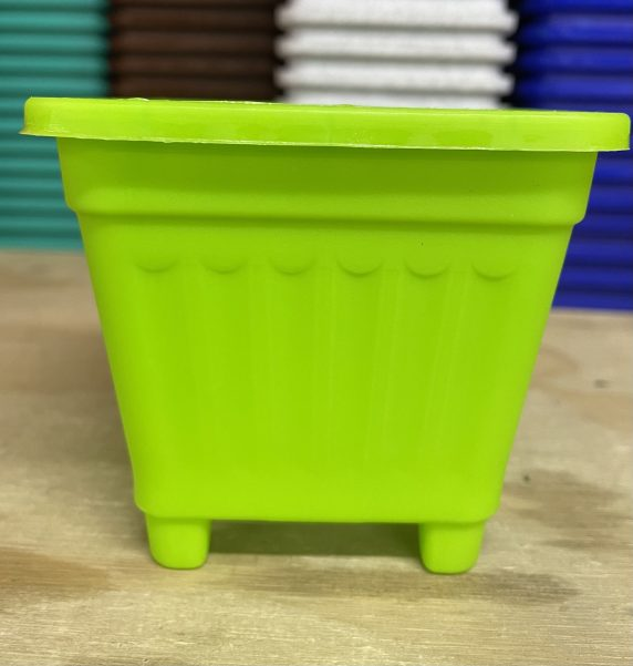Macetero Cuadrado Verde 8 Cm