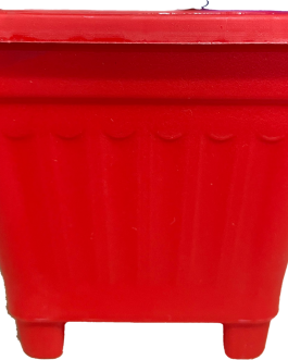 Macetero Cuadrado Naranjo 8 Cm