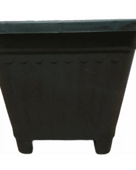 Macetero Cuadrado Negro 50 Cm