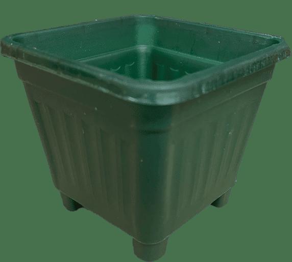 Macetero Cuadrado Verde Oscuro
