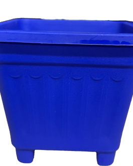 Macetero Cuadrado Azul 50 Cm