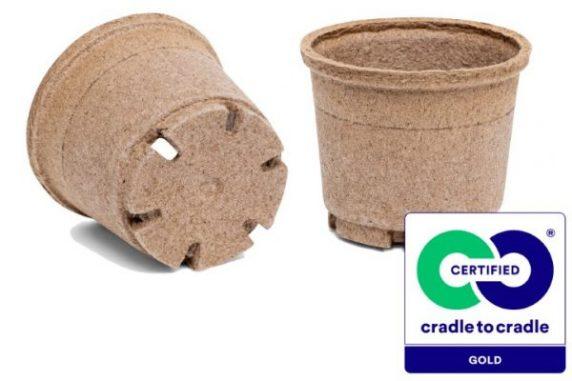 Macetero Biodegradable de Turba y Celulosa Jiffy pot de 99 cc