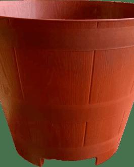 Macetero Modelo Barril Color Terracota 23 cm