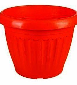 Macetero M8 redondo color Rojo