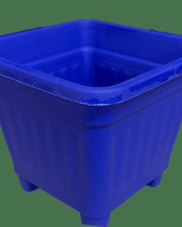 Macetero Cuadrado Azul 10 Cm
