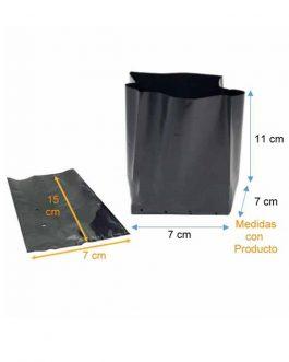 Bolsa Plástica para Almácigo y Plantas de 15×15 – 100 unidades