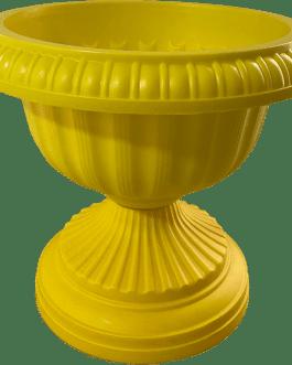 Macetero Tipo Copa Color Amarillo 24 Cm