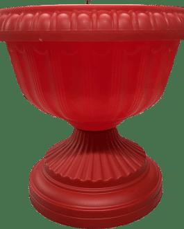 Macetero Tipo Copa Color Rojo 24 Cm