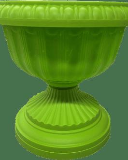 Macetero Tipo Copa Color Verde 24 Cm