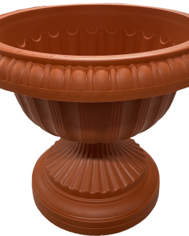Macetero Tipo Copa Color Terracota 24 Cm