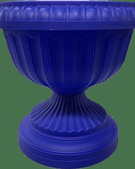 Macetero Tipo Copa Color Azul 24 Cm