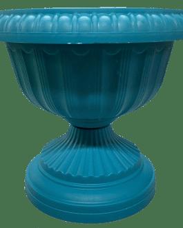 Macetero Tipo Copa Color Turquesa 24 Cm